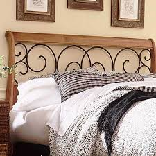 Wood And Iron Bedroom Furniture Fashion Bed Dunhill Wood Metal Headboard B92d0