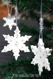 Homemade Christmas Tree Decorations Dough White Clay Ornaments Tutorial The Imagination Tree