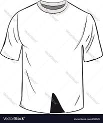 white t shirt design template royalty free vector image