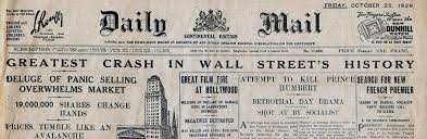 Behind That Curtain 1929 In 1929 The Stock Market Crashed Because Stony Brook Securities