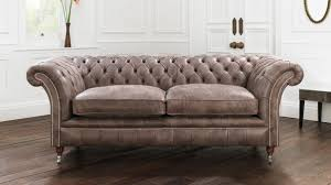 Leather Chesterfield Sofa Bed Grey Leather Chesterfield Style Sofa Leather Sofa
