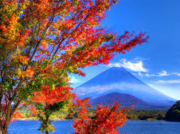 Pretty Blue Wallpapers by Autumn Fall Colorful Foliage Falling Nice Beautiful Peaks Leaves
