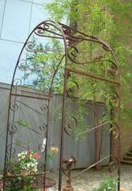 Trellis Arches Garden Wrought Iron Scroll Arbor Garden Art Back Yard Trellis Metal