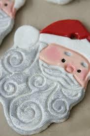 salt dough ornaments santa faces a farmgirl s kitchen