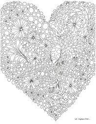 mindful practice a heart coloring page unwind