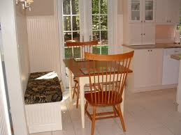 dining room captivating white wood kitchen banquette including
