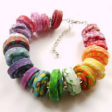 bead bracelet european images Hot sale colorful polymer clay european beads adw title ad4 jpg