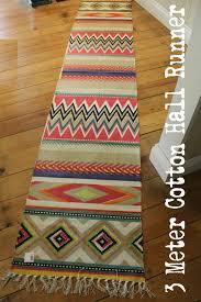 Aztec Runner Rug 3 Meter Runner Mexican Aztec Floor Mat Cotton Print Home