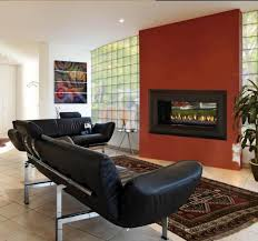 liivng room with modern propane fireplaces