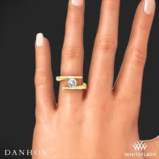 tension engagement rings danhov v119 voltaggio tension set solitaire engagement ring