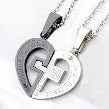couples heart necklace images Couple heart necklace breakpoint me jpg