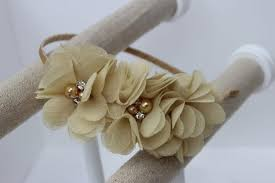 gold headbands gold flower girl headband gold headband chagne wedding headband