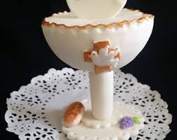 First Communion Cake Decorations Chalice Cake Topper Etsy