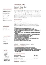 security supervisor resume sample example patrol job
