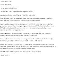 sap cover letter example u2013 cover letters and cv examples
