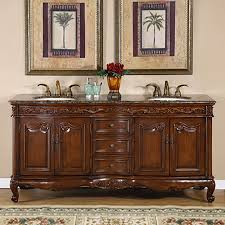 Granite Bathroom Vanity Shop Silkroad Exclusive Ella English Chestnut Undermount Double