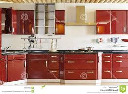 modern kitchen cabinet door modern kitchen cabinet door a deep red 03 royalty free stock with