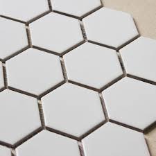 hexagon porcelain tile white matte porcelain non slip tile