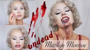 undead marilyn monroe halloween zombie makeup youtube