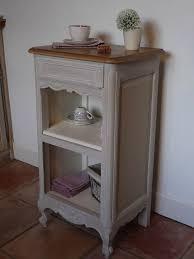le de chevet ancienne ancienne table de chevet gris lapin