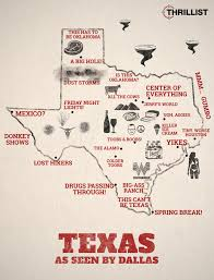 Map Dallas Map How Dallas Sees The Rest Of Texas Thrillist