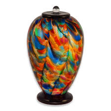cremation urns blown glass cremation urn for adults in deco autumn urns