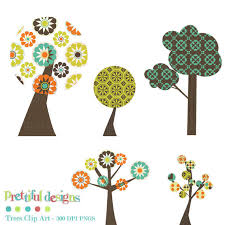 tree clip tree retro clipart commercial use instant
