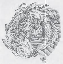 demi tattoos koi koi fish koi yin yang