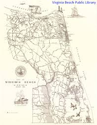 Map Of Virginia Beach A Map Of Virginia Beach Virginia In 1963 When Princess Anne