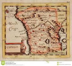 Congo Africa Map Antique Map Of Congo Africa Stock Image Image 29539011