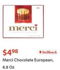 where to buy merci chocolates merci chocolates only 2 49 at walmart with printable bogo coupon