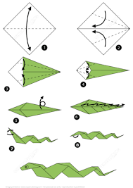 Step By Step Origami For - how to make an origami snake step by step free