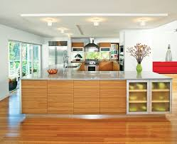 Bamboo Kitchen Cabinets by Modern Bright Kitchen Design With Sleek Bamboo Kitchen Cabinets