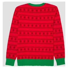 men u0027s ugly holiday light up let u0027s get lit sweater well worn red