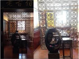 customized carved wood room divider modern hanging room divider