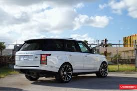 lifted land rover 2016 2013 range rover hse riding on vossen u0027s concave 22 inch rims w video