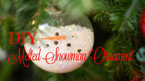 christmas diy melted snowman ornament youtube