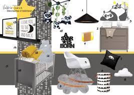 deco chambre gris et jaune chambre bébé jaune et gris meuble entiere complete garcon arbre