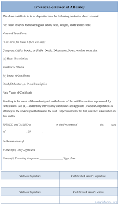 Complete Power Of Attorney Form by Irrevocable Power Of Attorney Form Sample Irrevocable Power Of