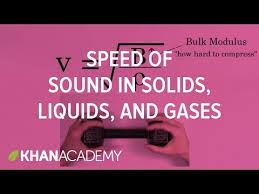 relative speed of sound in solids liquids and gases video