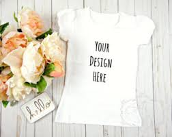 mommy and me white t shirt and onesie product mock up white