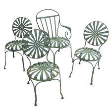 Outdoor Lounge Vis A Vis Francois Carre Sunburst French Green Outdoor Garden Or Patio