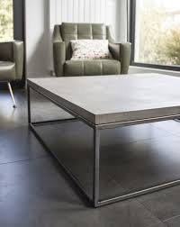 Steel Coffee Table Perspective Concrete And Steel Large Coffee Table Minimalist