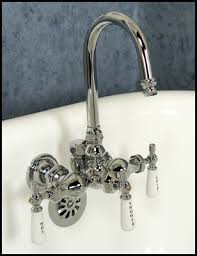 Clawfoot Tub Faucet With Diverter Chrome Clawfoot Tub Diverter Faucet Gooseneck Spout Barclay