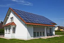 house with solar house solar panel stock photo image of modern futuristic 9769390