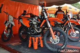 ktm electric motocross bike for sale 2017 ktm motocross bike range launched in malaysia six models