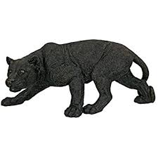 design toscano shadowed predator black panther garden