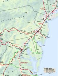 Williamsburg Virginia Map by Mid Atlantic Amtrak Route Map