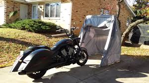 the bike shield motorcycle shelter garage shed storage