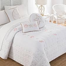Seashell Duvet Cover Coastal Seashells Embroidered Bedspread Christmas Tree Shops